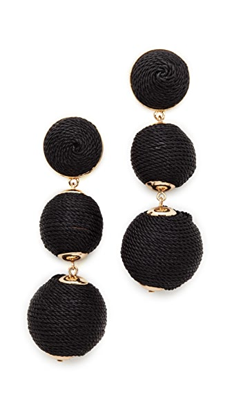 Shashi Brooke Earrings - Black