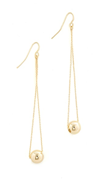 Shashi Evelyn Earrings In Yellow Gold