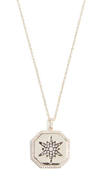 Shashi Octagon Starburst Necklace In Yellow Gold