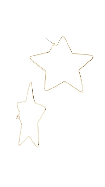 Shashi Star Hoop Earrings