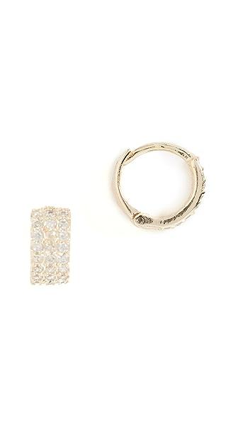 Shashi Lara Huggie Earrings In Yellow Gold