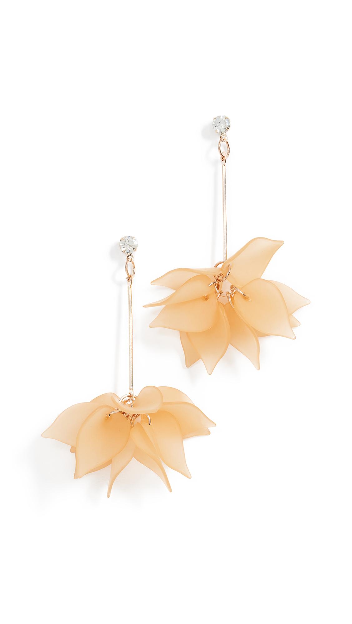Shashi Lucite Rose Earrings