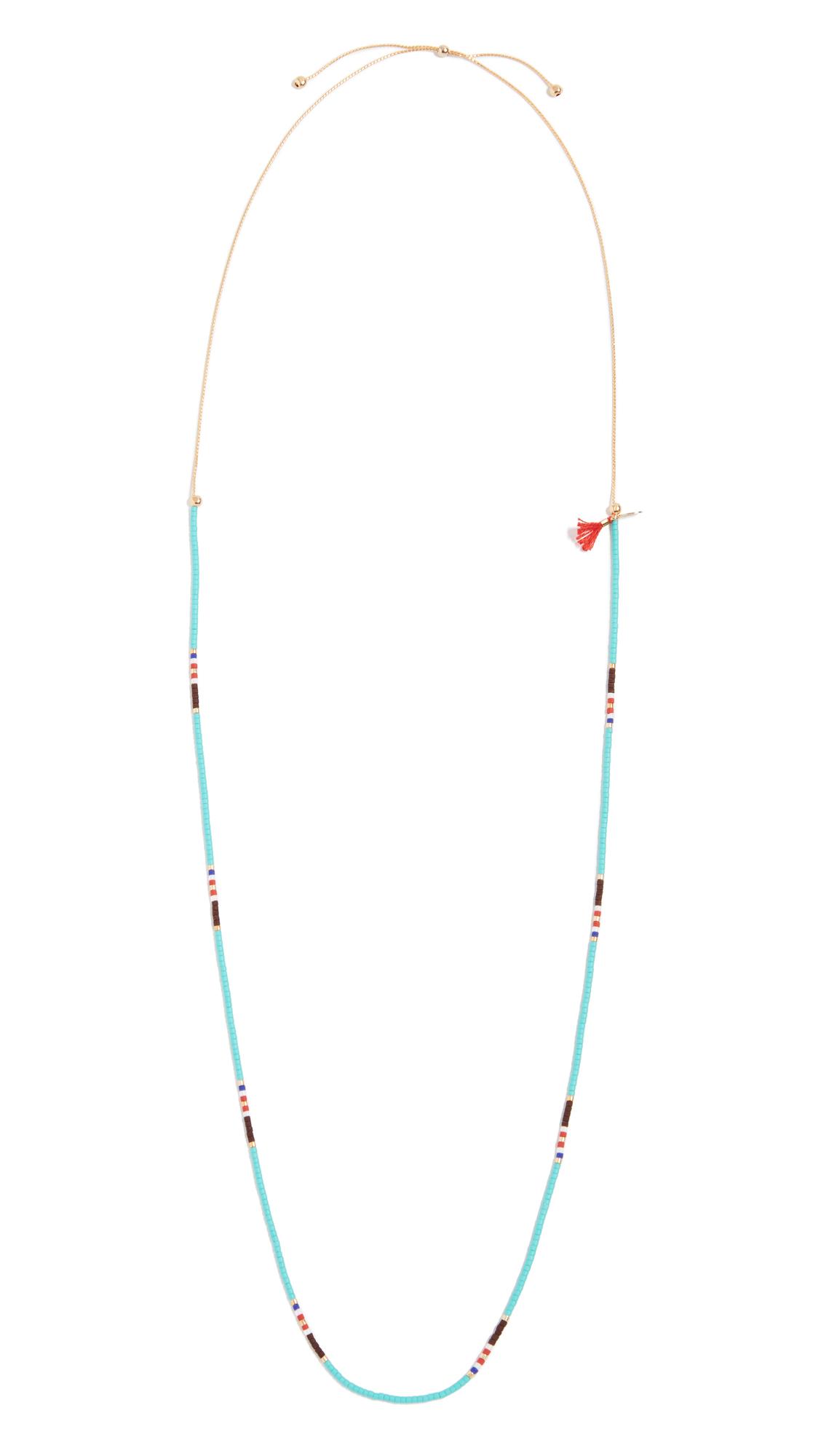 Shashi Sam Bead Necklace In Turquoise