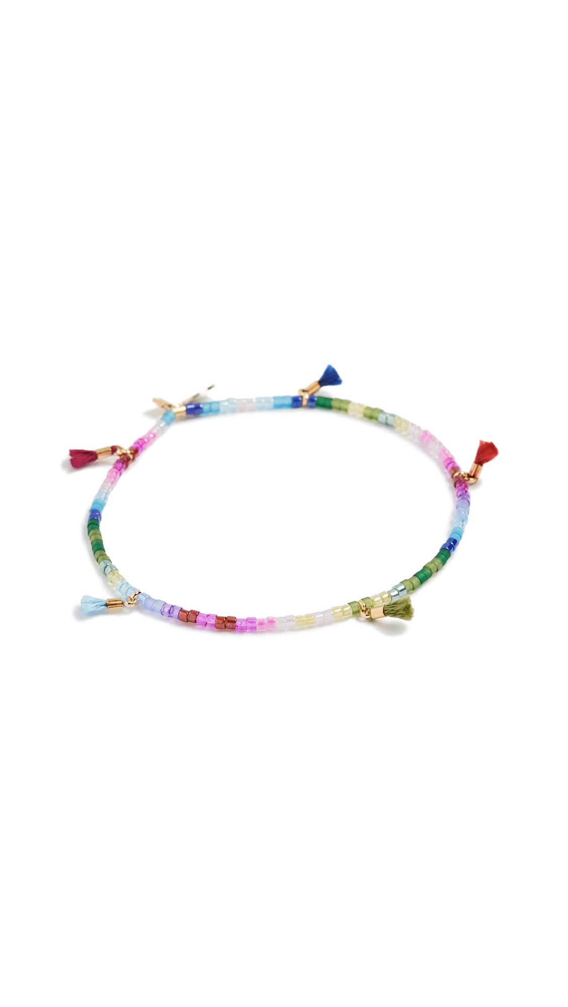 Shashi Lilu Delica Bracelet In Rainbow