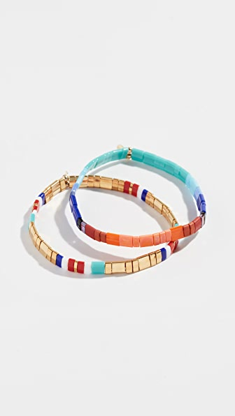 Shashi TILU SET OF 2 BRACELETS