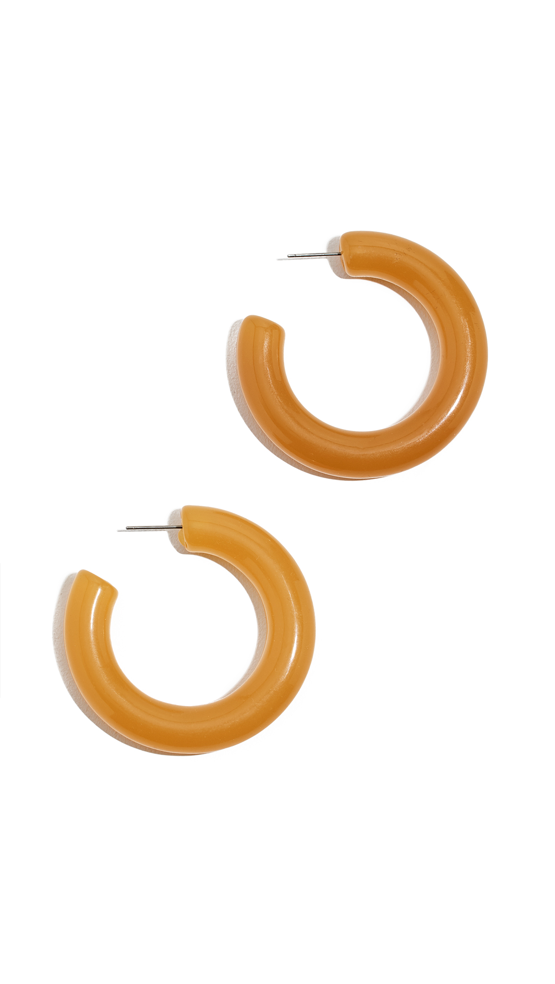 SHASHI Clueless Hoop Earrings in Yellow