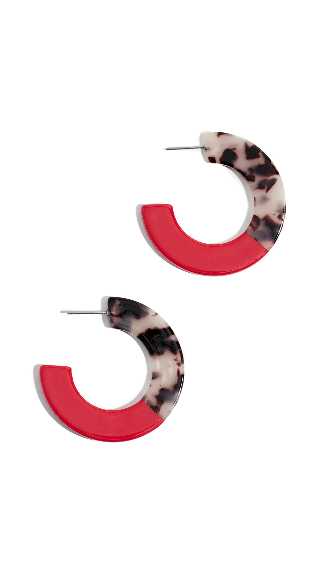 SHASHI Peyton Hoop Earrings in Red