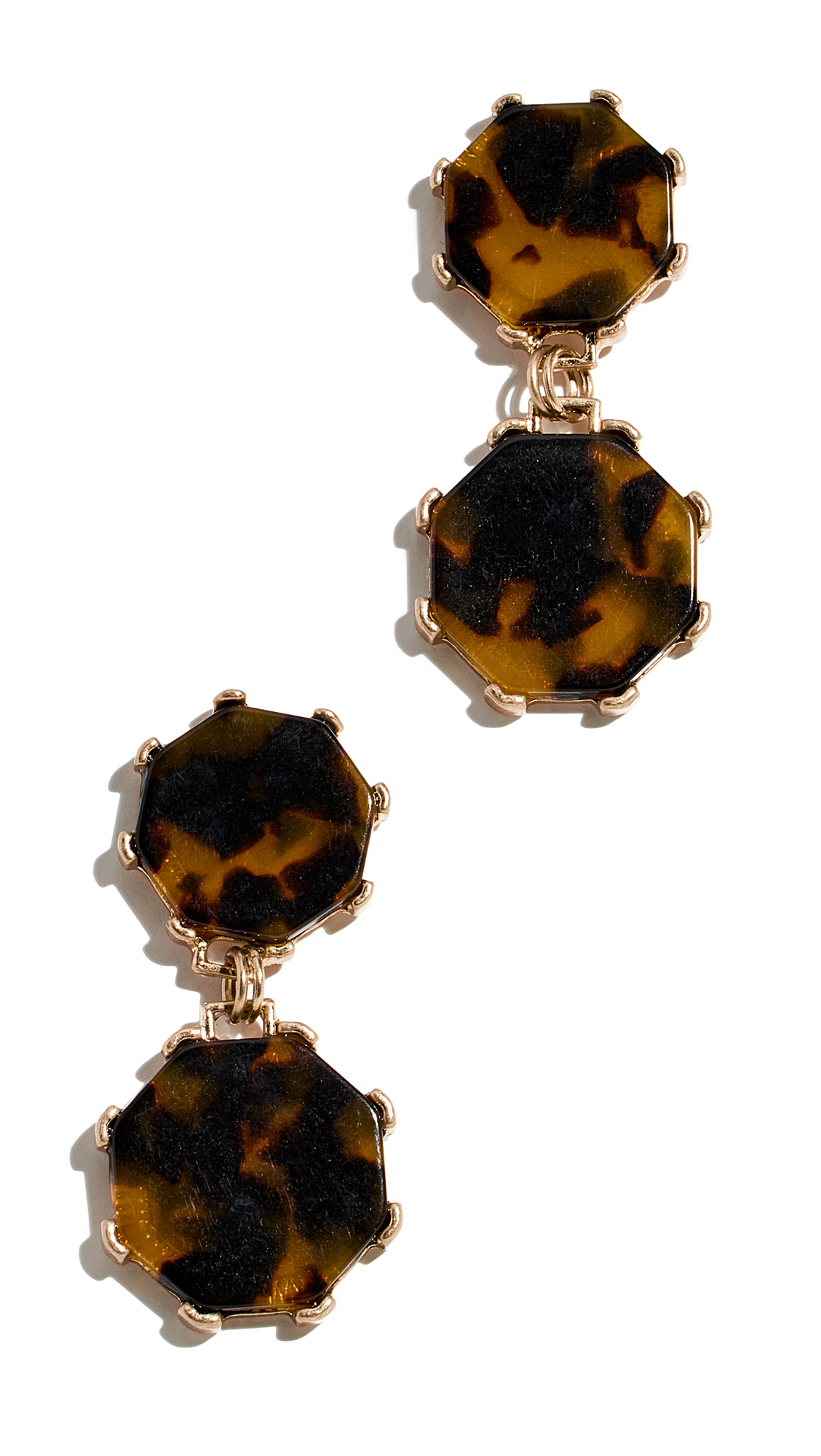 SHASHI Cassie Drop Earrings in Tortoise