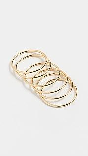 SHASHI Classique Ring Set
