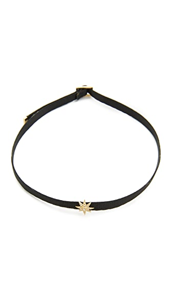 Shay 14k Gold Mini Starburst Choker Necklace