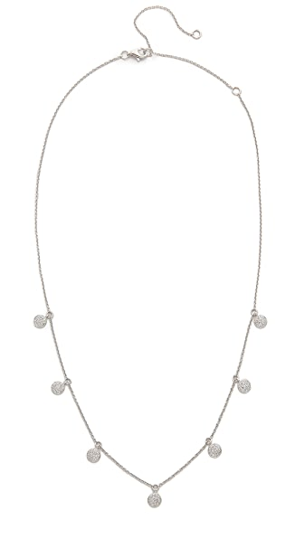 Shay 18k White Gold Pave Diamond Dangle Drop Necklace - White Gold/White Diamonds
