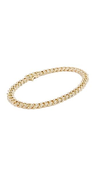 Shay Mini Pave 18k Gold Link Bracelet - Gold/White Diamond