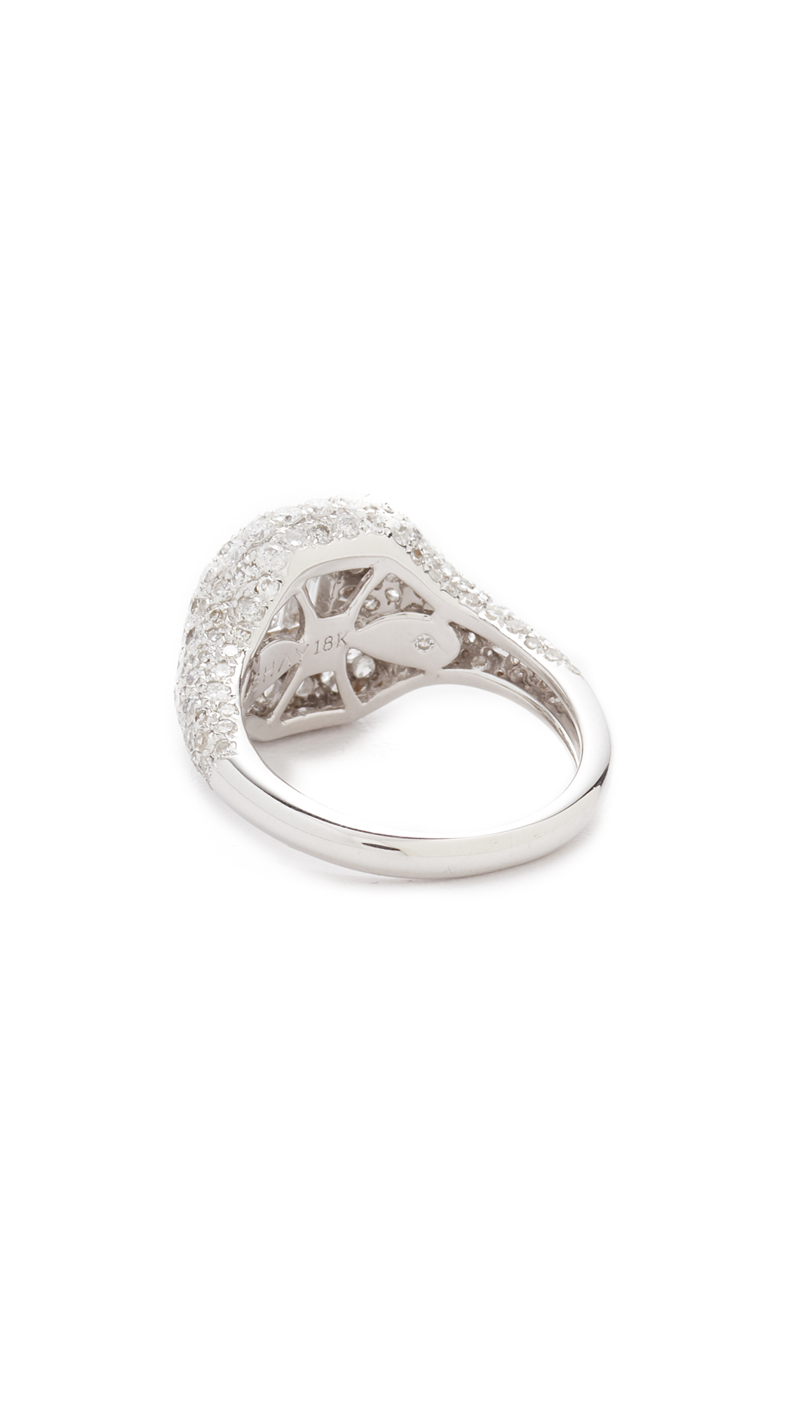 Shay 18k White Gold Pave Essential Diamond Pinky Ring qDDAvIJ