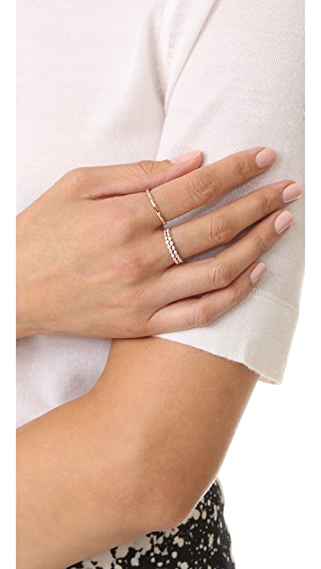 Shay Double Row Diamond 18k Gold Eternity Ring