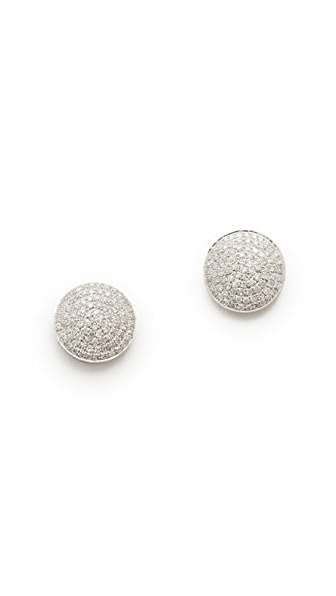 Shay 18k White Gold Essential Round Pave Diamond Stud Earrings - White Gold/White Diamonds