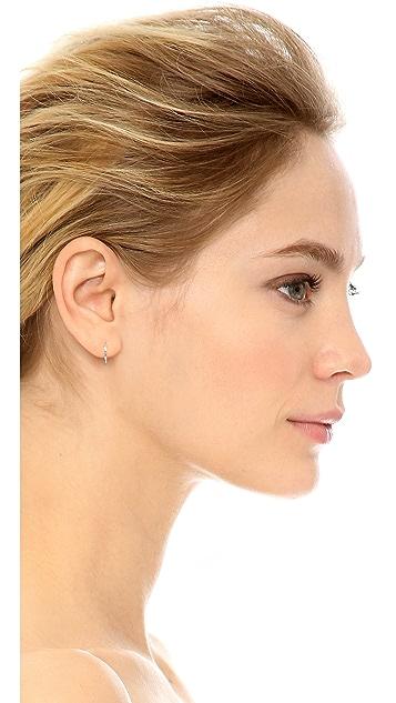 Shay Mini Baguette 18k Gold Diamond Huggie Earrings