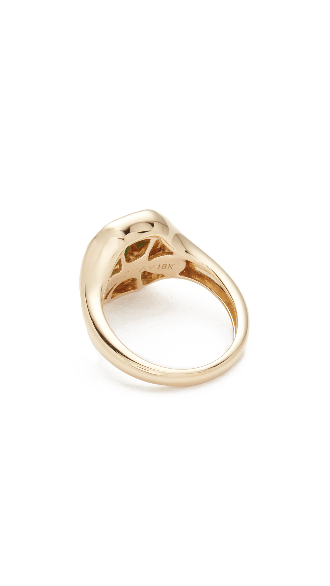 Shay 18k Gold Baguette Essential Pinky Ring h9u58q