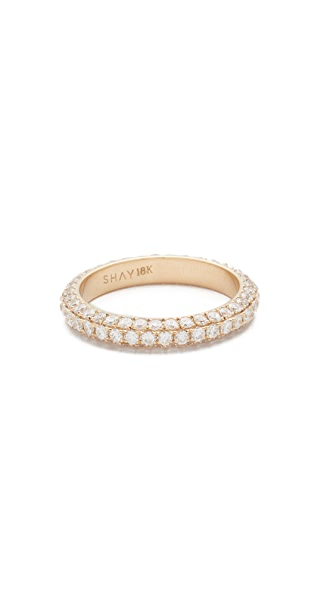 Shay 18k 3 Sided Diamond Eternity Ring - Yellow Gold