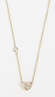 Shay 18K 金钻石纸牌式心形项链