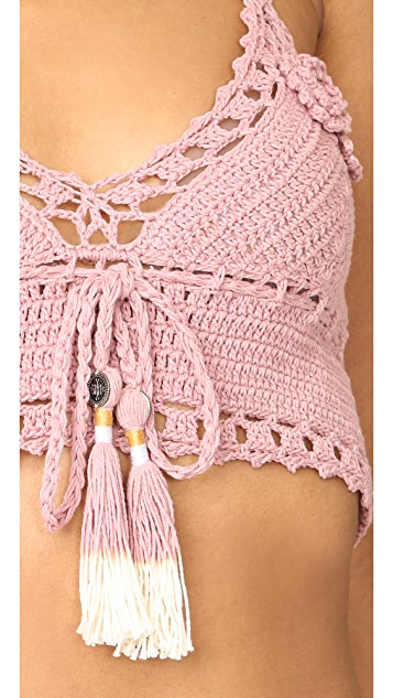 She Made Me Jannah Skirted Crochet Bikini Top