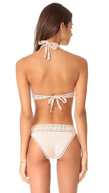 She Made Me Farah Halter Bikini Top