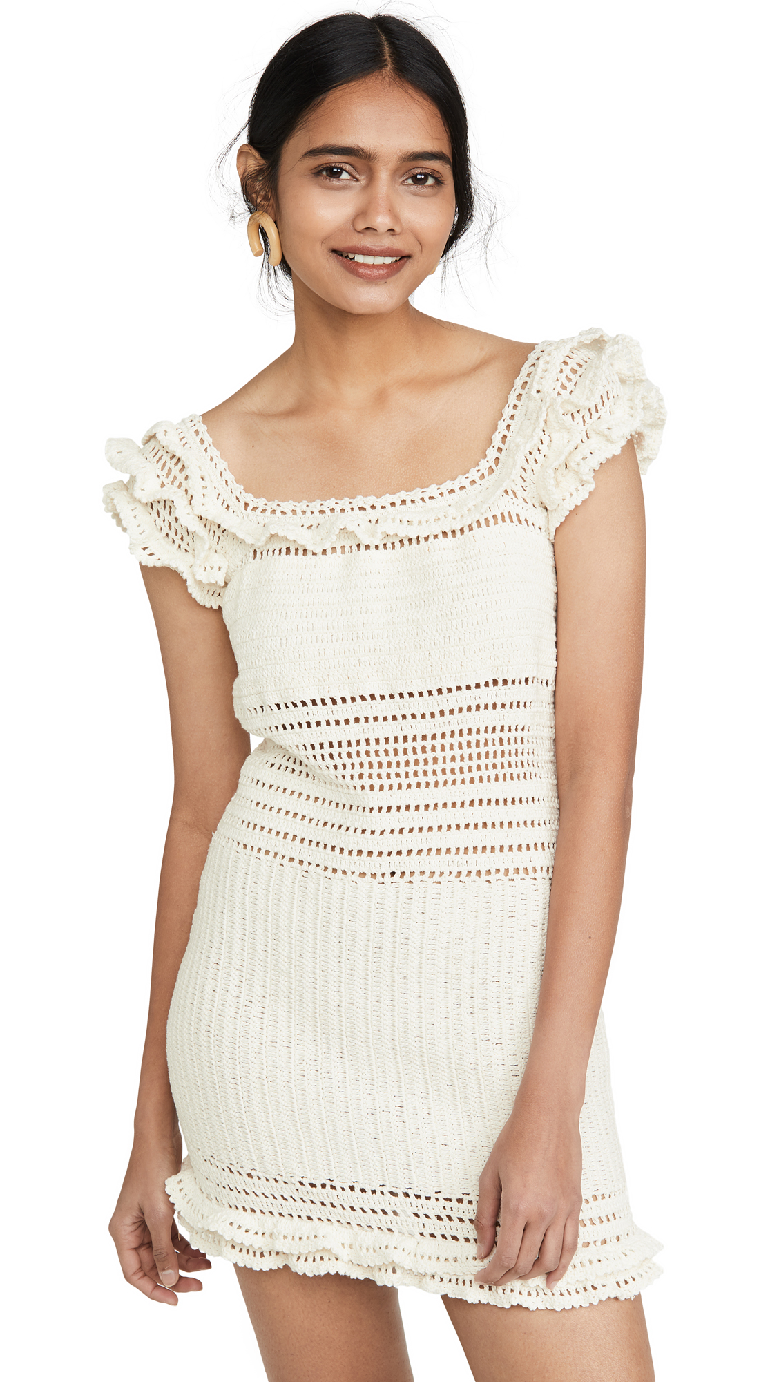 Buy She Made Me online - photo of She Made Me Saachi Frill Mini Dress
