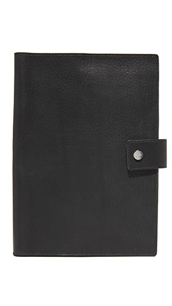 Shinola Medium Notebook & iPad Mini Leather Cover