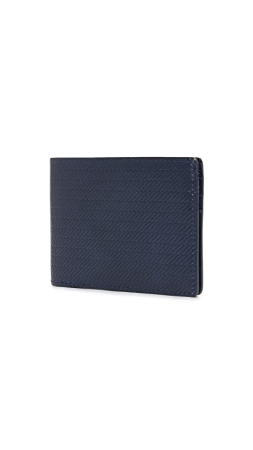 Shinola Embossed Slim Bifold Wallet