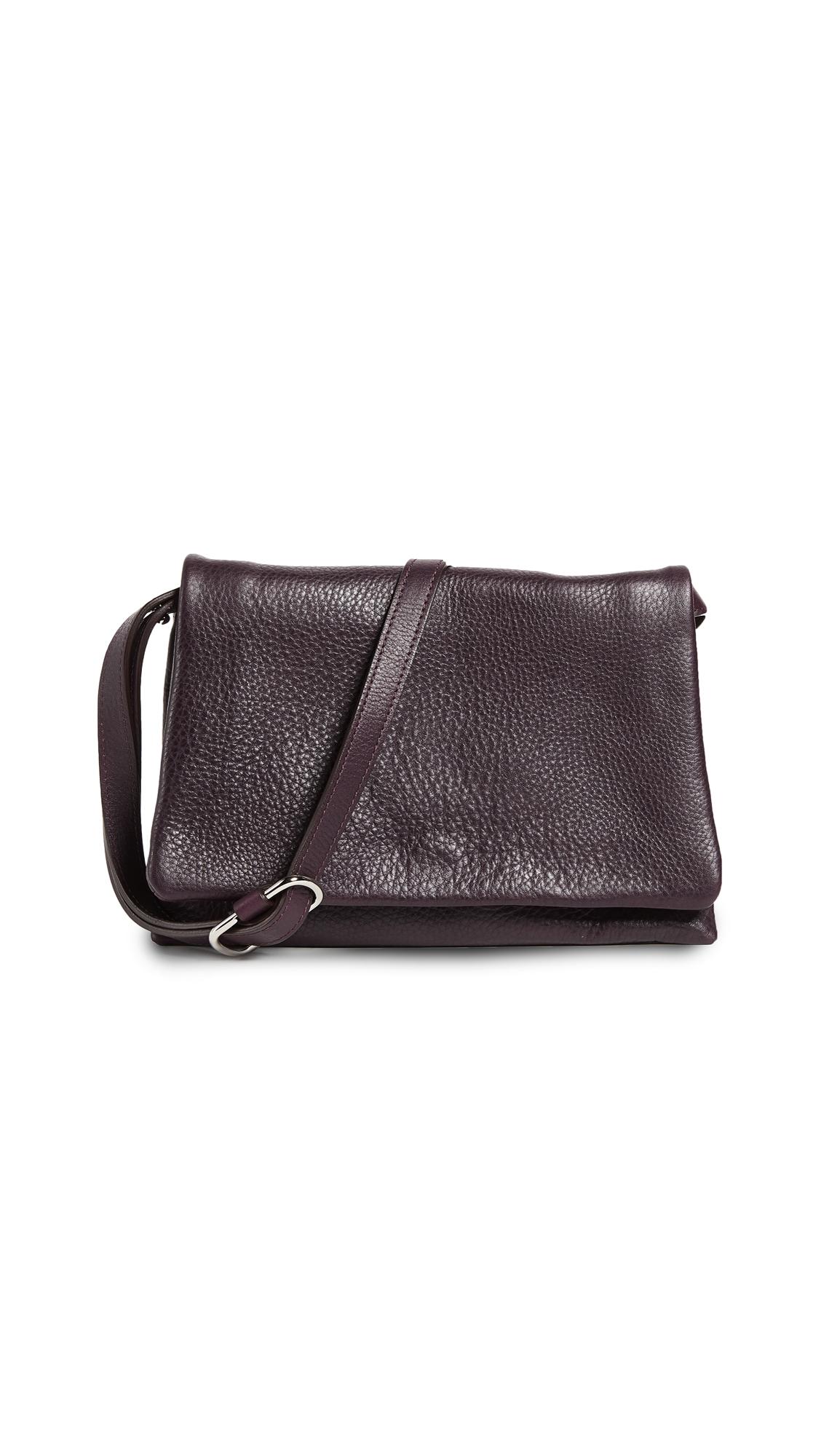 Shinola Rolled Flap Bag - Aubergine