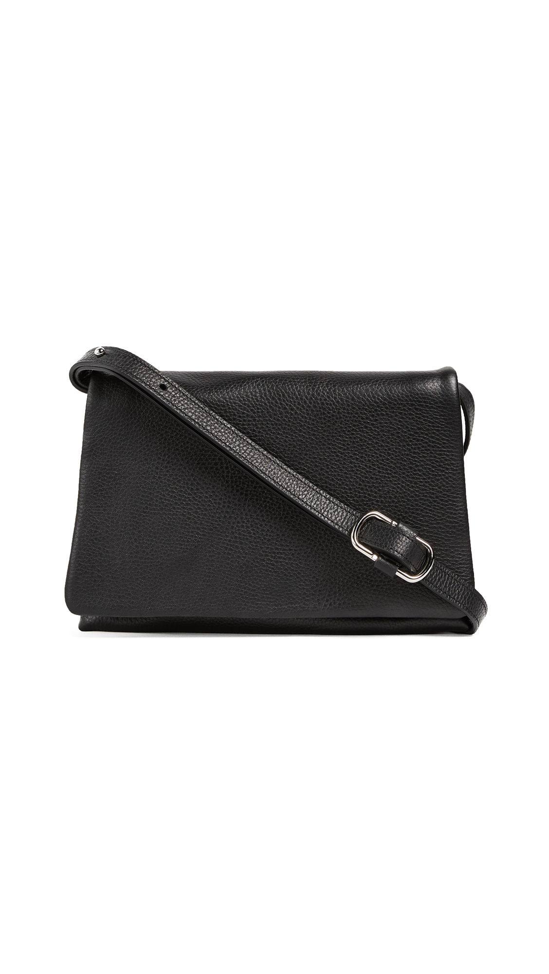 Shinola Rolled Flap Bag - Black
