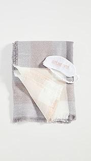 Shopbop @Home Airplane Mode Blanket Eye Mask Set