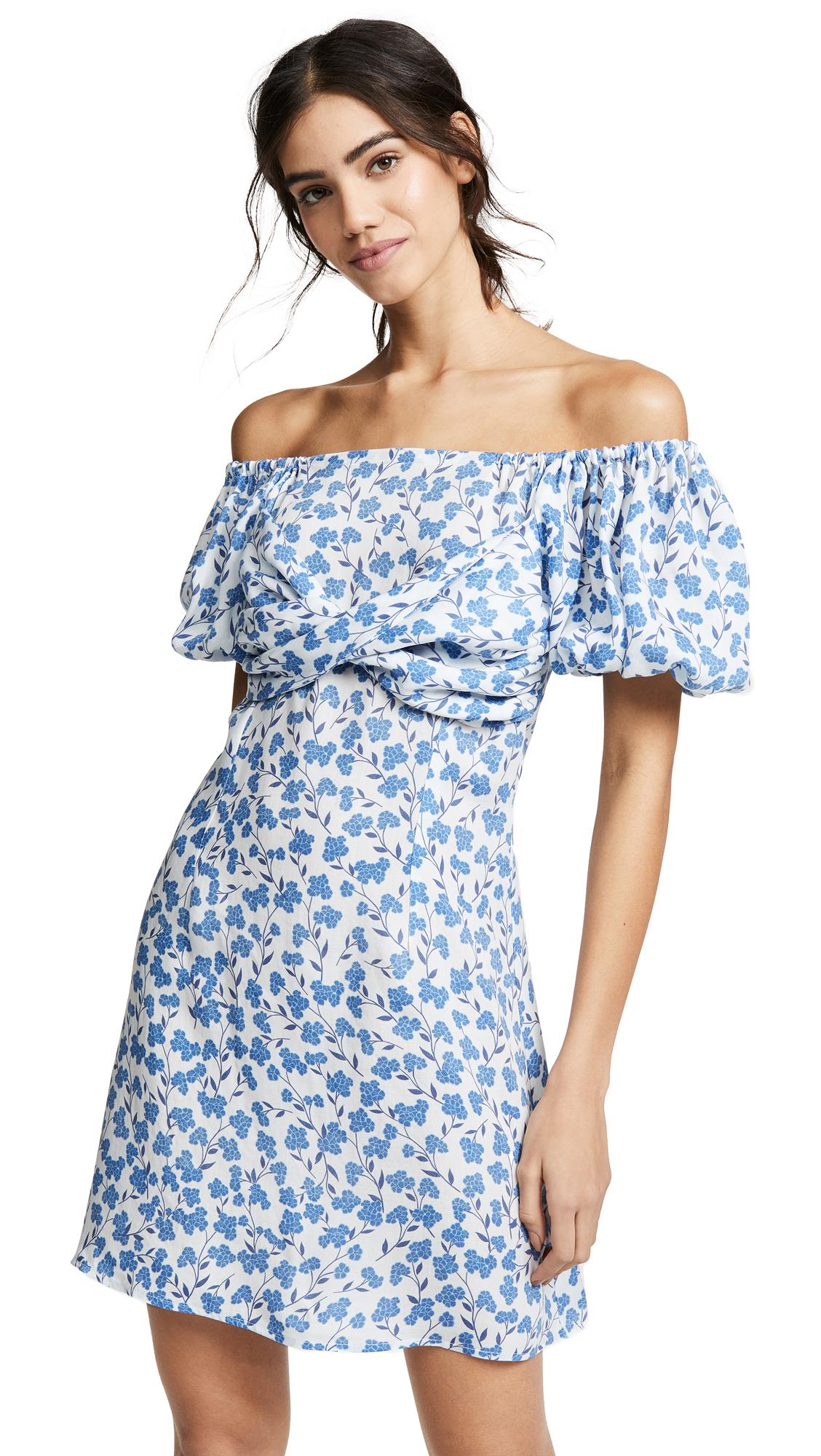 6 SHORE ROAD Sea Mini Dress in Blue Floral