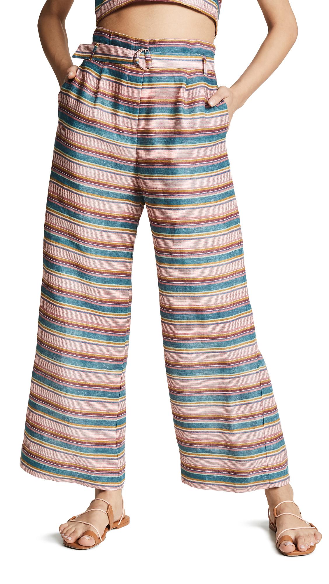 6 SHORE ROAD Stripe Pants in Multi Stripe