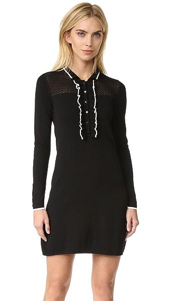 Shoshanna Jenny Ruffle Knit Dress