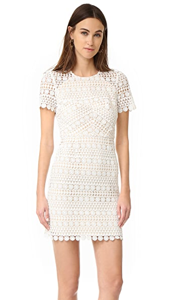 Shoshanna Geo Floral Lace Dress