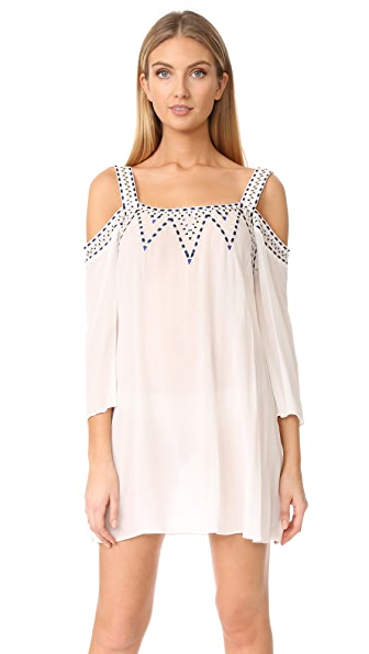 Shoshanna Off Shoulder Tank Dress