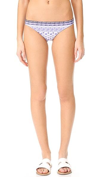 Shoshanna Classic Bikini Bottoms - Marine Blue Multi