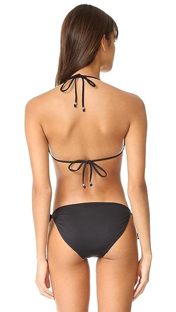 Shoshanna Ruffle Halter Bikini Top
