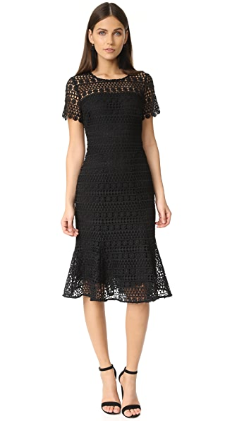 Shoshanna Park Midi Dress - Jet