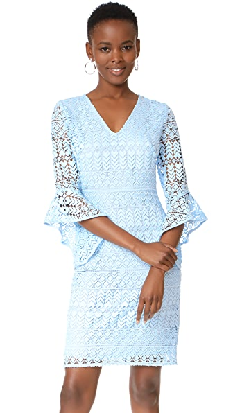 Shoshanna Ladera Dress - Cloud