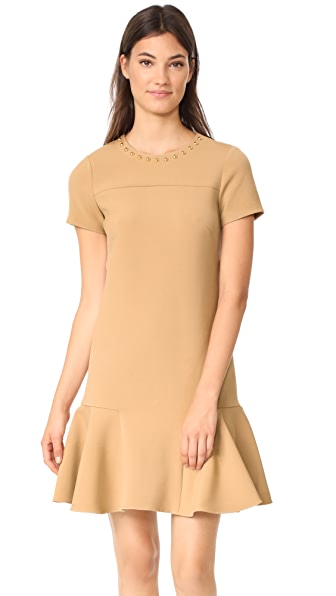 Shoshanna Ashgrove Dress In Camel