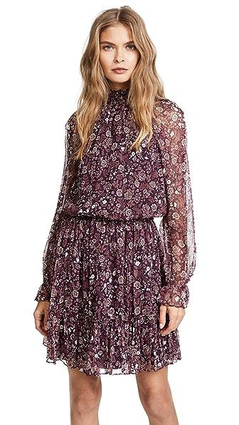 Shoshanna Henderson Dress In Aubergine Multi