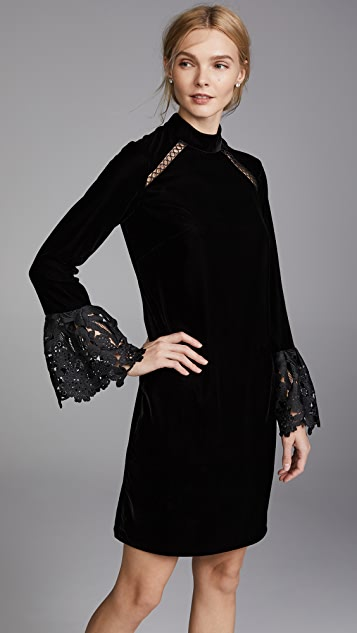 Shoshanna Oliver Velvet Dress