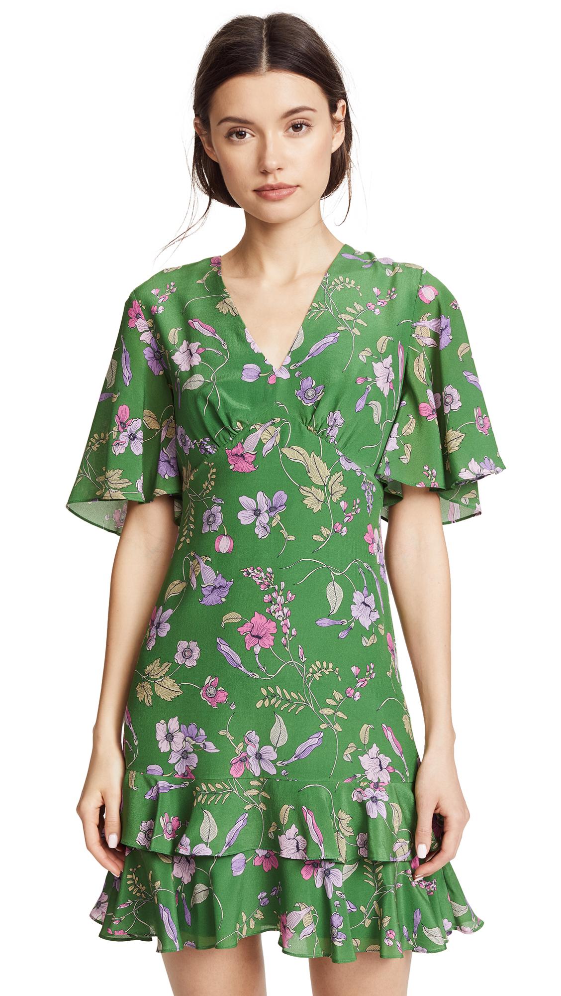 Shoshanna Virginia Dress In Leaf Multi