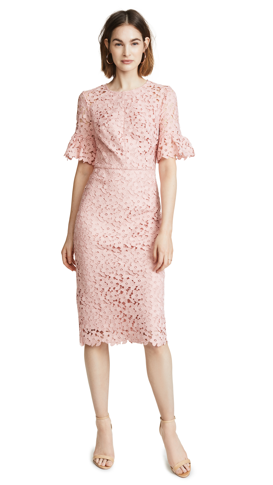 Shoshanna Flare Sleeve Dress