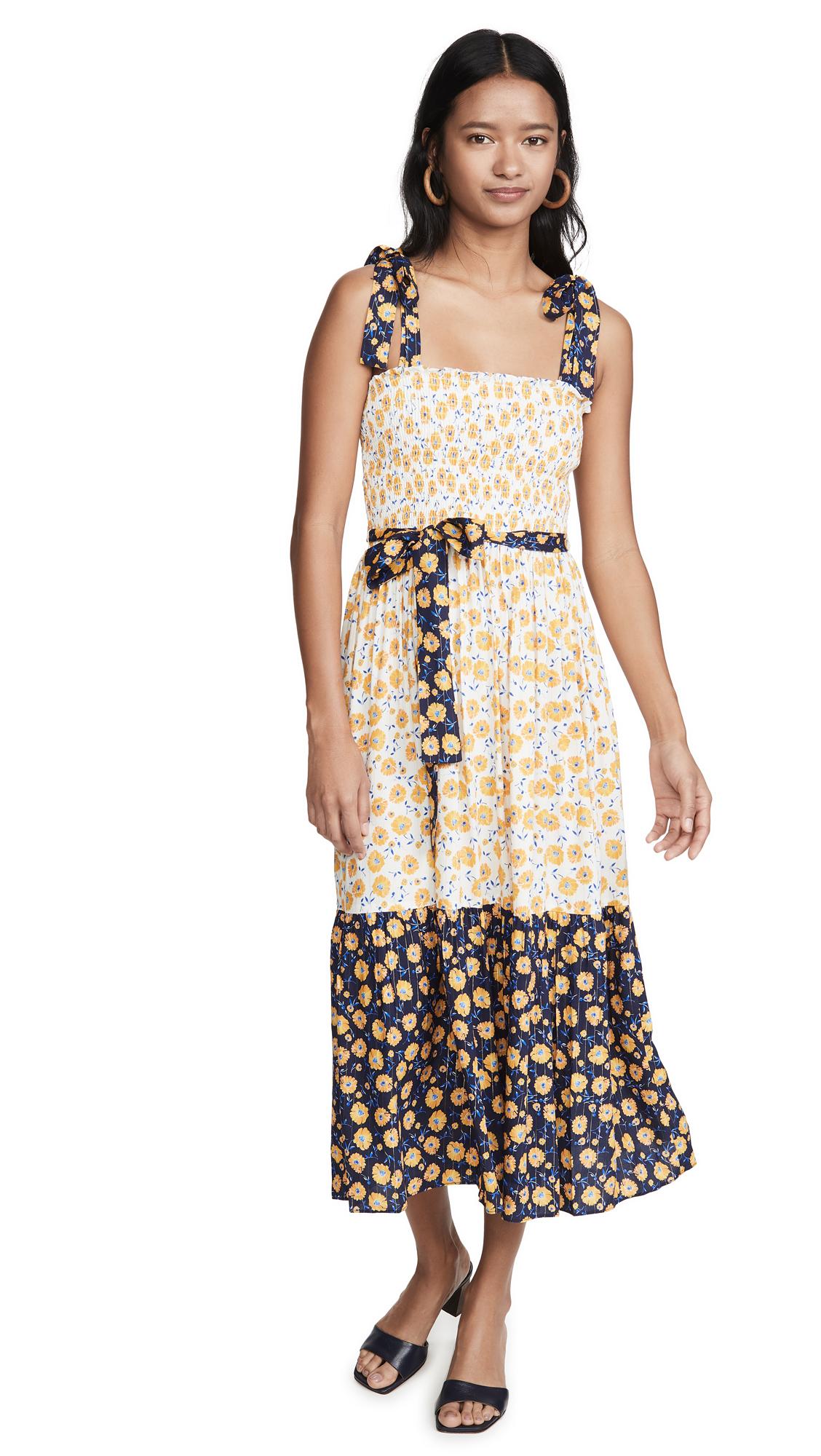 Buy Shoshanna online - photo of Shoshanna Tie Strap Midi Dress