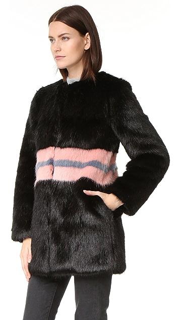 Shrimps Frederica Faux Fur Coat