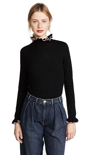 Shrimps Norah Sweater In Black/Rosette