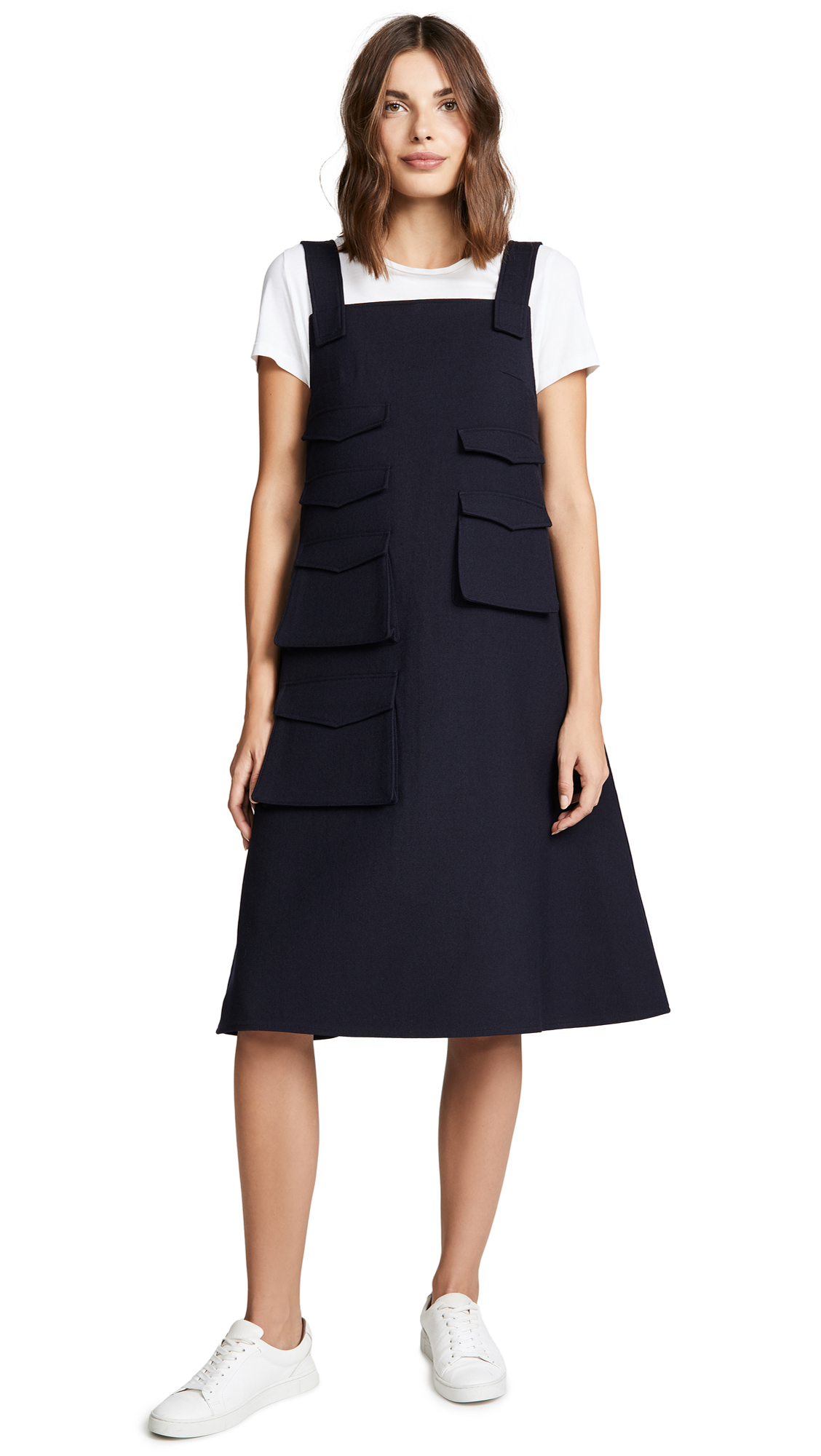 Pockets Dress, Navy