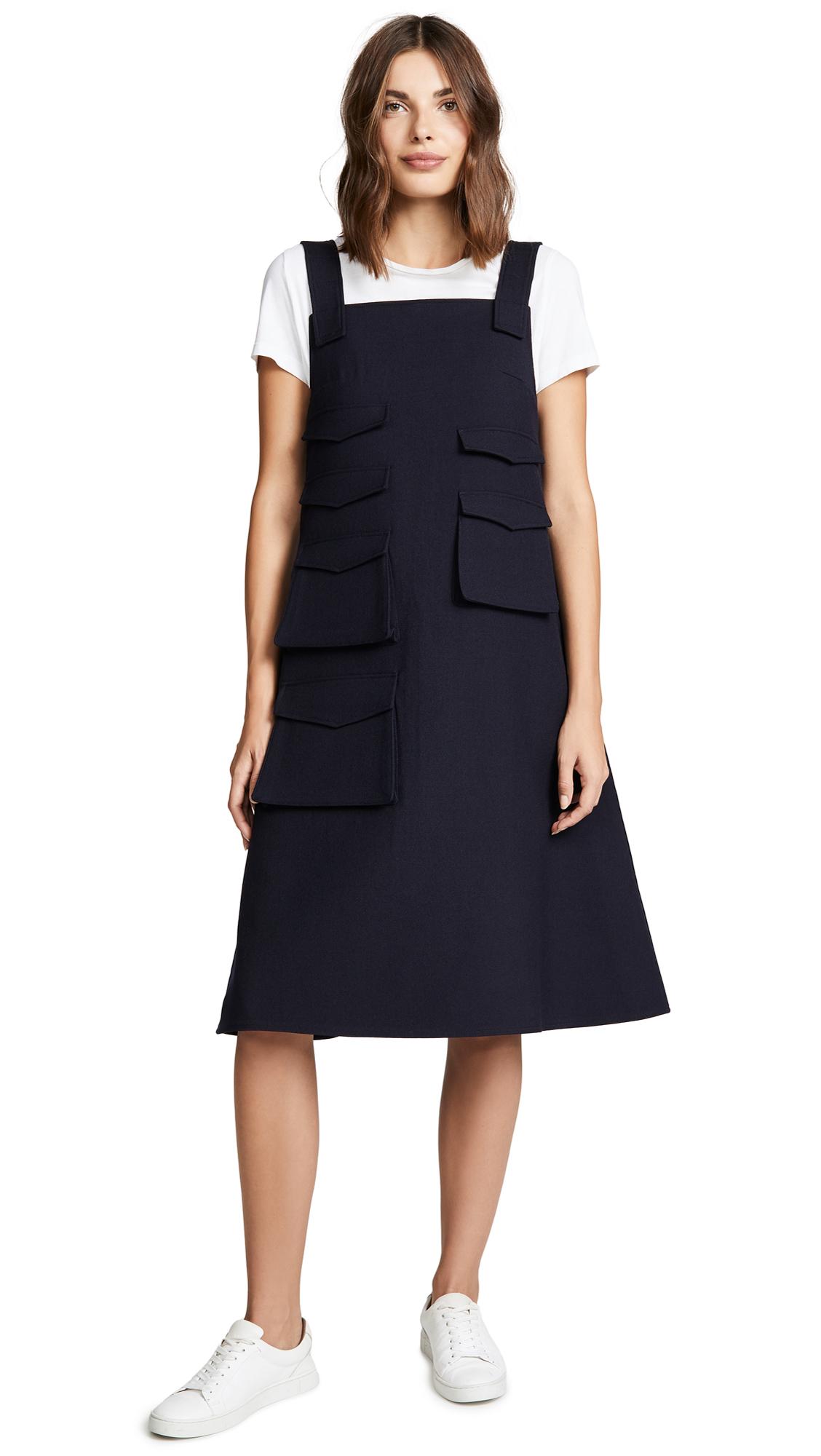 SHUSHU/TONG Pockets Dress In Navy